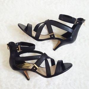 VINCE CAMUTO Macobi Leather Sandal Heels